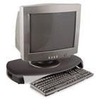 CRT/LCD Stand with Keyboard Storage, 23 x 13 1/4 x 3, Black KTKMS280B