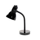 "Advanced Style Incandescent Gooseneck Desk Lamp, 16"" High, Black LEDL9090"