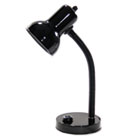 "Incandescent Gooseneck Desk Lamp, 16"" High, Black LEDL9091"