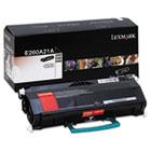 E260A21A Toner, 3500 Page-Yield, Black LEXE260A21A