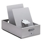 Porta-Matic Drop-Side Posting Tray, 9-1/2w x 15d x 9-1/4h, Steel, White MAT11070