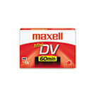 Premium Grade Mini DV Camcorder Tape Cassette, 60 Minutes MAX298010