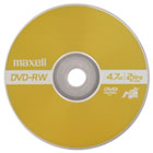 DVD-RW Discs, 4.7 GB, 2x, w/Jewel Cases, Gold, 3/Pack MAX635123