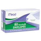 Security Envelope, 3 5/8 × 6 1/2, 20 lb, White, 80/Box MEA75212