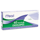 Security Envelope, 4 1/8 x 9 1/2, 20 lb, White, 40/Box MEA75214