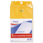 Clasp Envelope, 6 x 9, 24lb, Kraft, 5/Pack MEA76010