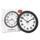 "Norcross Auto Daylight-Savings Wall Clock, 12-1/4"", Black, 1 AA MIL625320"