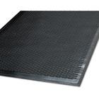 Clean Step Outdoor Rubber Scraper Mat, Polypropylene, 48 x 72, Black MLL14040600