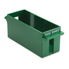 Porta-Count System Extra-Capacity Rolled Coin Plastic Storage Tray, Green MMF212071002
