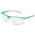 Refine 201 Safety Glasses, Wraparound, Clear AntiFog Lens, Teal Frame MMM117350000020
