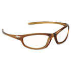 Refine 101 Safety Glasses, Wraparound, Clear AntiFog Lens, Mocha Frame MMM117380000020