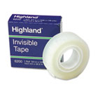 "Invisible Permanent Mending Tape, 3/4"" x 1296"", 1"" Core, Clear MMM6200341296"