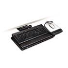 """Easy Adjust Keyboard Tray, Highly Adjustable Platform, 23"""" Track, Black MMMAKT150LE"""