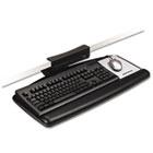 Tool-Free Install Knob Adjust Keyboard Tray With Standard Platform, Black MMMAKT65LE