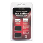 925403 Replacement Ink Rollers, Black, 2/Pack MNK925403