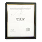 EZ Mount Document Framew/Accent, Plastic, 8 x 10, Black/Gold NUD11800