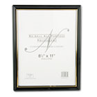 EZ Mount Document Frame with Trim Accent, Plastic, 8-1/2 x 11, Black/Gold NUD11880