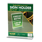 Acrylic Sign Holder, 8 1/2 x 11, Clear NUD38020