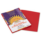 Construction Paper, 58 lbs., 9 x 12, Red, 50 Sheets/Pack PAC6103