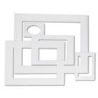 Pre-Cut Mat Frames for Photo/Art, 12 Mats/ 5 Asst Sizes, 60/Pack, White PAC72500