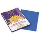 Construction Paper, 58 lbs., 9 x 12, Bright Blue, 50 Sheets/Pack PAC7503