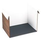 Corrugated Study Carrel, 25w x 18d x 17h, Woodgrain Print PAC91100