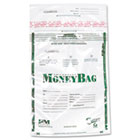 Plastic Money Bags, Tamper Evident, 9 x 12, Clear, 50/Pack PMC58019