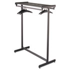 Double-Sided Garment Rack, Steel, Black Powder Coat QRT20314