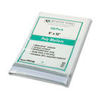 4Redi-Strip Poly Mailer, Side Seam, 9 x 12, White, 100/Box QUA46190