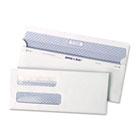 Reveal-N-Seal Double Window Check Envelope, Self-Adhesive, White, 500/Box QUA67539