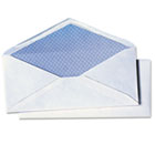 White Wove Security Business Envelope Convenience Packs, V-Flap, #10, 40/Box QUA69017