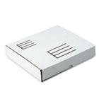 Die-Cut Fiberboard Ring Binder Mailer w/1 Binder Cap, 10-1/2 x 12 x 2-1/8, White QUA74105