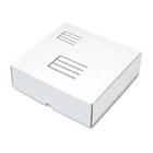 Die-Cut Fiberboard Ring Binder Mailer w/3 Binder Cap, 12 1/4x 12x3-7/8, White QUA74106