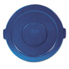 """Round Flat Top Lid, for 32-Gallon Round Brute Containers, 22 1/4"""", dia., Blue RCP263100BE"""