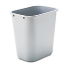 Deskside Plastic Wastebasket, Rectangular, 7gal, Gray RCP295600GY