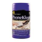PhoneKleen Wet Wipes, Cloth, 5 x 6, 50/Tub REARR1403
