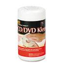 CD/DVD Kleen Cleaner Wet Wipes, 5 1/4 x 5 3/4, 75/Tub REARR1420