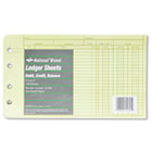 Extra Sheets for Four-Ring Ledger Binder, 5 x 8-1/2, 100/Pack RED14055