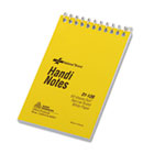 Wirebound Memo Book, Narrow Rule, 3 x 5, White, 60 Sheets RED31120