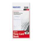 Employee Time Card, Semi-Monthly, 4-1/4 x 8, 100/Pad RED4K402