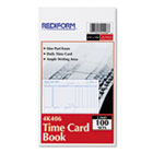 Employee Time Card, Daily, Two-Sided, 4-1/4 x 7, 100/Pad RED4K406