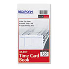 Employee Time Card, Weekly, 4-1/4 x 7, 100/Pad RED4K409
