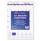 One Month Per Page Twin Wirebound Wall Calendar, 12 x 17, 2015 REDC171102