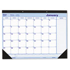 Monthly Desk Pad, Chipboard, 21 3/4 x 17 REDC181731