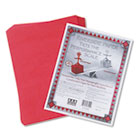 Riverside Construction Paper, 76 lbs., 9 x 12, Holiday Red, 50 Sheets/Pack PAC103442
