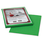 Riverside Construction Paper, 76 lbs., 9 x 12, Green, 50 Sheets/Pack PAC103596