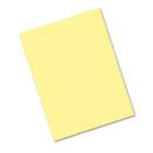 Riverside Construction Paper, 76 lbs., 9 x 12, Light Yellow, 50 Sheets/Pack PAC103966