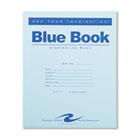 Exam Blue Book, Margin Rule, 8-1/2 x 7, White, 4 Sheets/Pad ROA77510