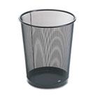 4 1/2 Gallon Steel Black Round Mesh Trash Can ROL22351