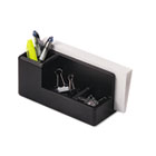 Wood Tones Desk Organizer, Wood, 4 1/4 x 8 3/4 x 4 1/8, Black ROL62537